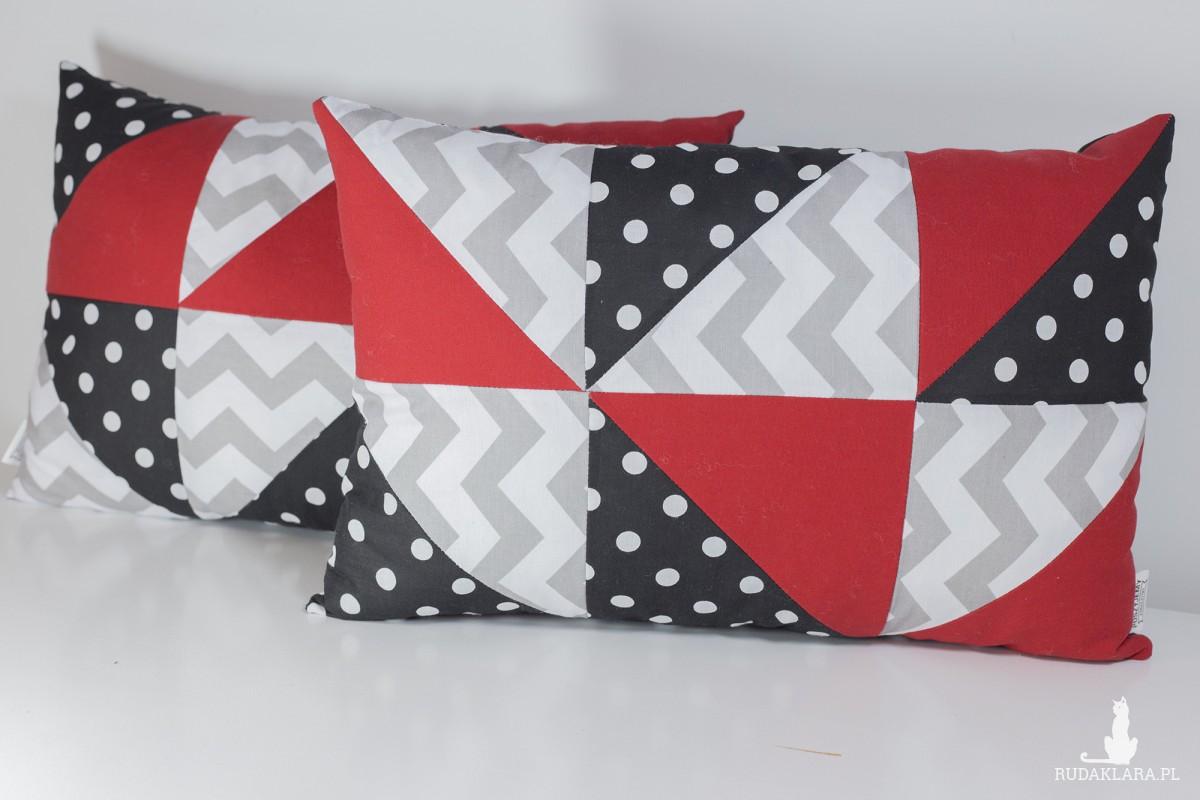 Komplet poduszka patchwork 2 szt. bawełna