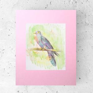 Zabawny plakat z ptaszkami 21x30 cm,ptaki plakat do dekoracji pokoju