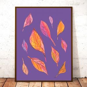 30 cm x 40 cm oryginalny plakat dekoracyjny, kolorowa grafika do domu, obrazek do pokoju