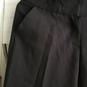 czarne materiałowe spodnie atmosphere