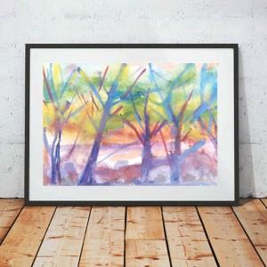 ładny plakat do pokoju, grafika z pejzażem, krajobraz plakat na ścianę, pejzaż obrazek do pokoju