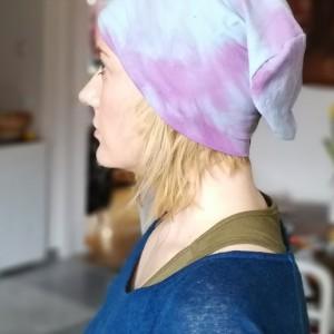 czapka recznie farbowana bawełna wiosna rekonwalescencja sport