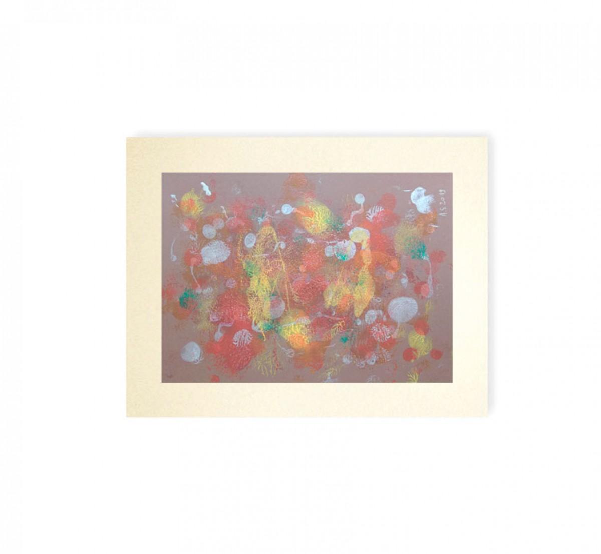 abstrakcja grafika, dekoracja na ścianę