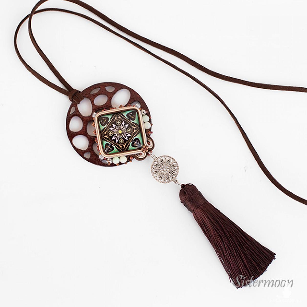 Długi naszyjnik boho Mandala