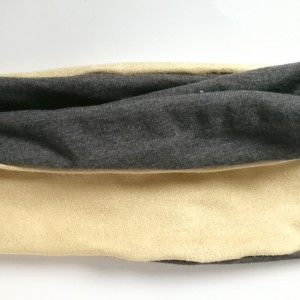 opaska dzianinowa beżowo-szara