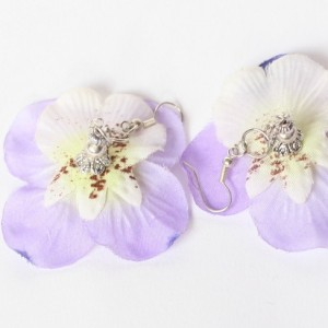 kolczyki handmade kwiaty rzep się trzepie przy kalarepie