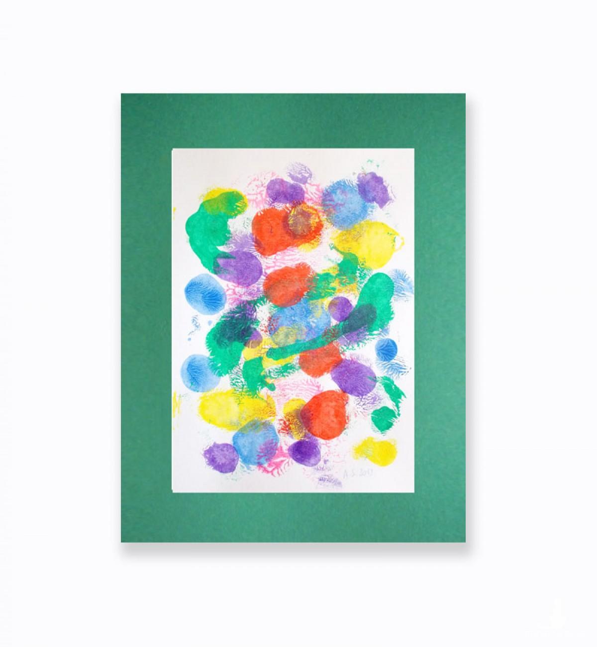 abstrakcyjna grafika, dekoracja na ścianę, kolorowa abstrakcja, nowoczesny obraz malowany ręcznie