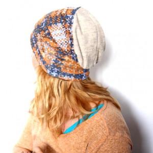 czapka damska dresowa handmade