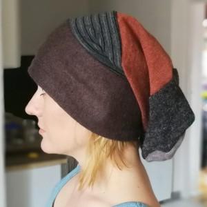 czapka smerfetka długa ciepła