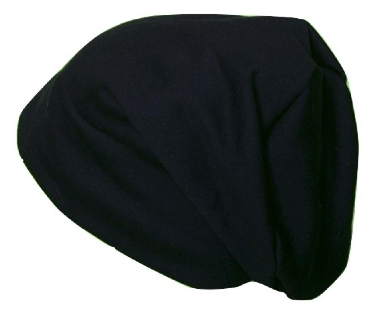 czapka unisex czarna wir