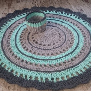 Dywan ze sznurka bawełnianego