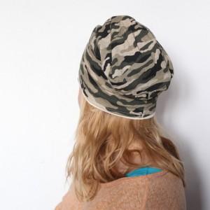 czapka damska męska dziecięca handmade  moro