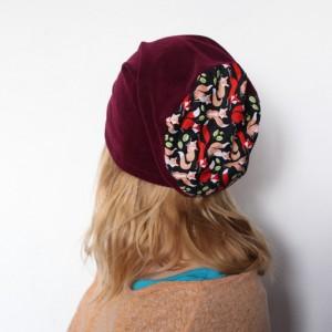 czapka damska dresowa aksamitka sportowa