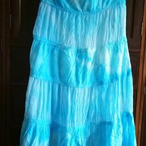 spódnica ręcznie farbowana długa lato bawełna