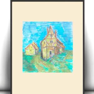 Kolorowy obrazek do dziecięcego pokoju, plakat dla dziewczynki, plakat dla chłopca, ilustracja dla dzieci, grafika do pokoju dzieci