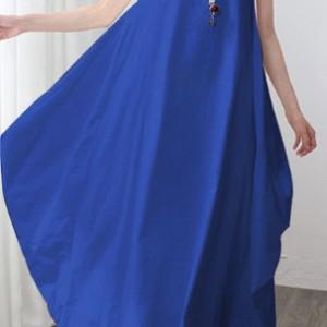 sukienka niebieska oversize długa L