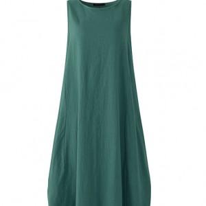 Wyprzedaż lata-sukienka zielona oversize długa