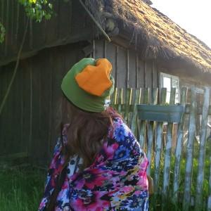 czapka damska męska zielona żółta sport dresowa
