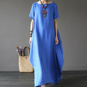 sukienka niebieska oversize M