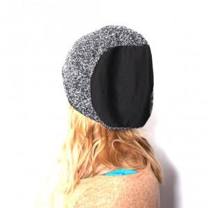 czapka damska w pepitke