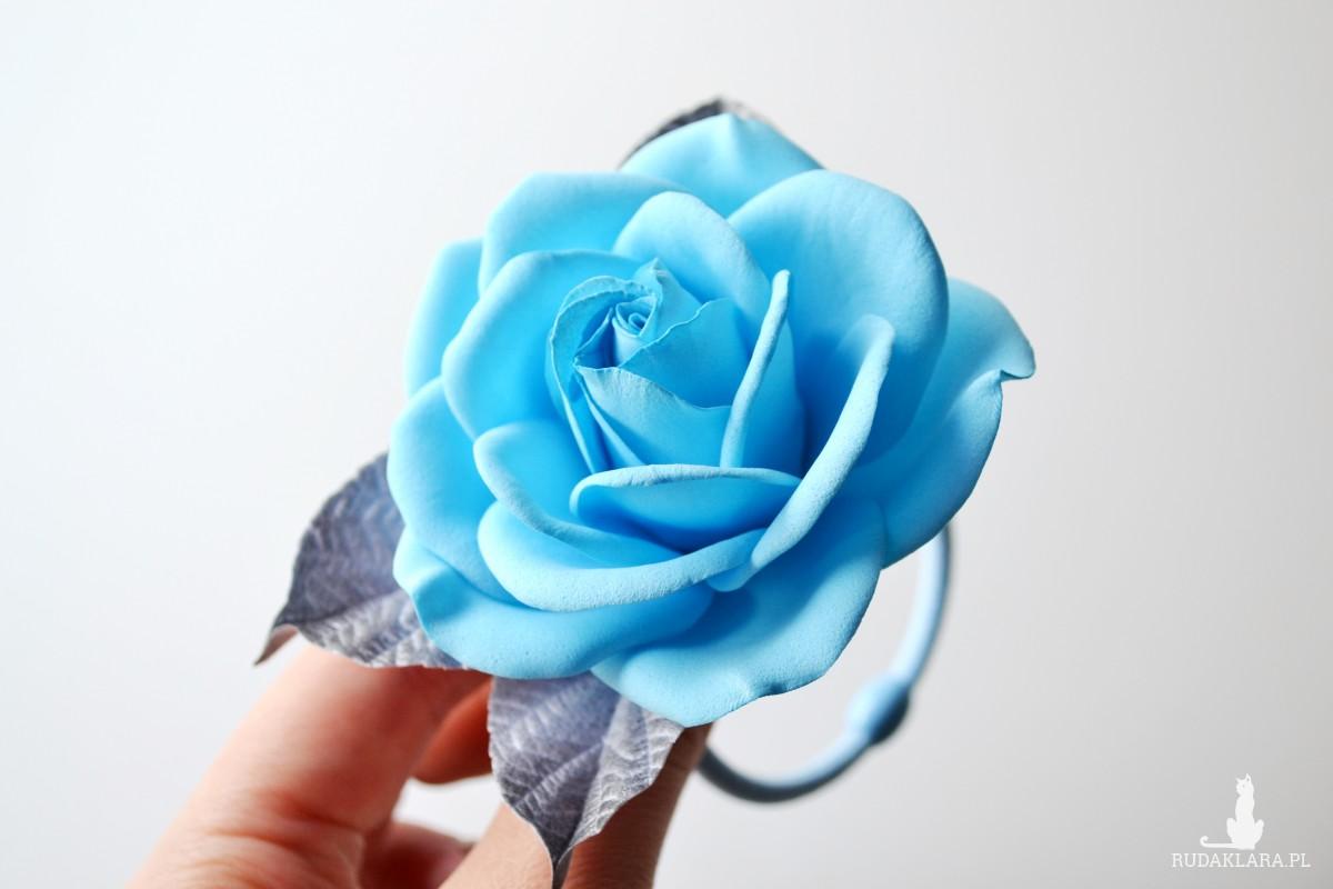 Gumka do włosów blue rose