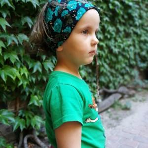 opaska dziecięca letnia kwiaty miła gumka szeroka