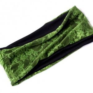 opaska damska koronkowa zielona