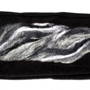 opaska damska haftowana wełną merynosów