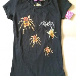 T shirt z pająkami nadruk autorski S