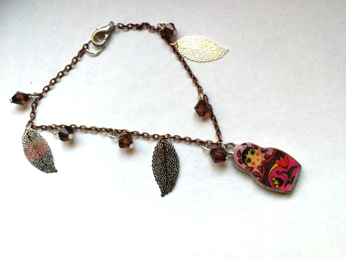 bransoletka kolorowa etno boho matrioszka