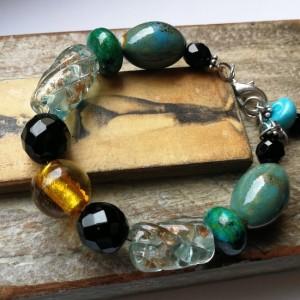 bransoletka kolorowa etno boho handmade