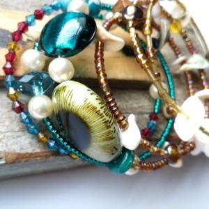duża bransoletka etno boho orient hipi handmade