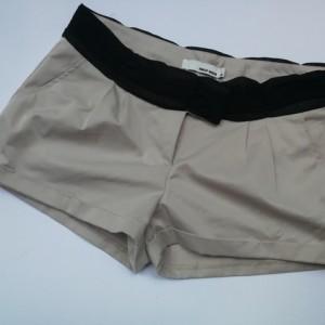 spodnie krótkie spodenki tiul szare eleganckie