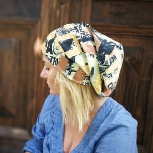 czapka unisex damska męska smerfetka długa lato-wiosna