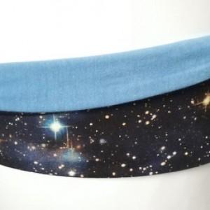 opaska szara kosmiczna bawełna na podszewce