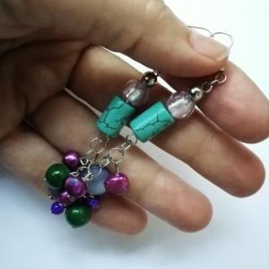kolczyki turkus perły klasyczne- prosty jak świński ogonek sprzedawca z mrożonek