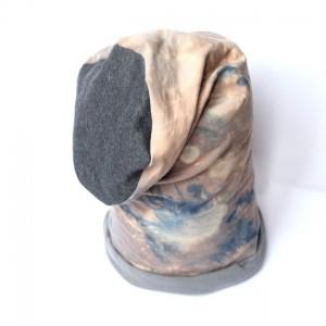 czapka bawełniana ręcznie farbowana