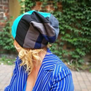 czapka damska patchwork dzianina boho- box as- firmowa wydmuszka sturlała się z łóżka