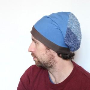 czapka dresowa unisex niebieska