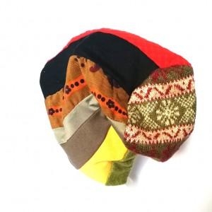 czapka damska etno boho patchworkowa