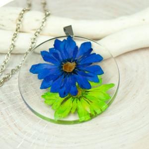 Naszyjnik z suszonym kwiatem z229