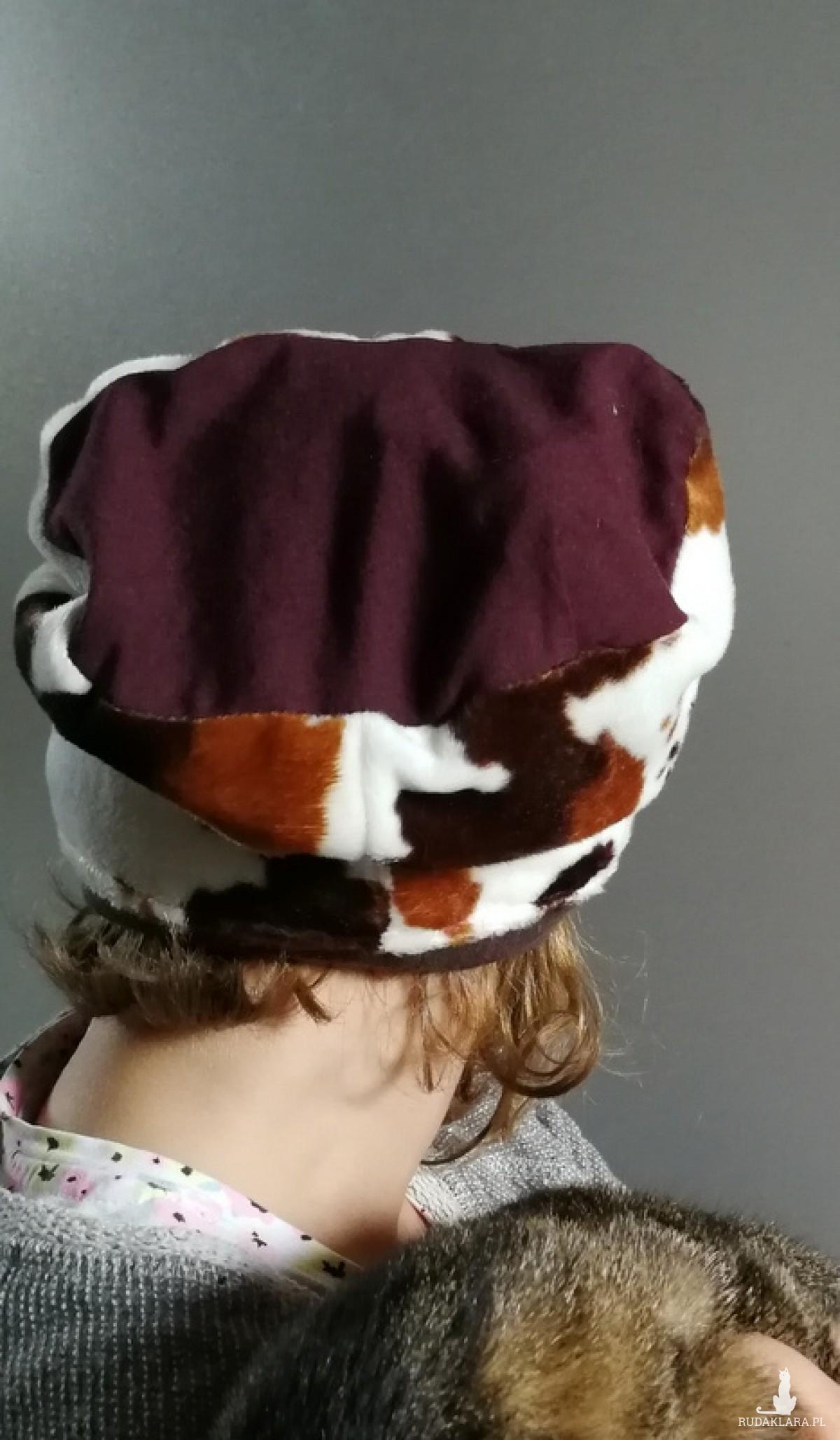 czapka dziecięca krowa 5-9lat