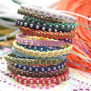 bransoletka sznurkowa - route balls /wybierz kolor