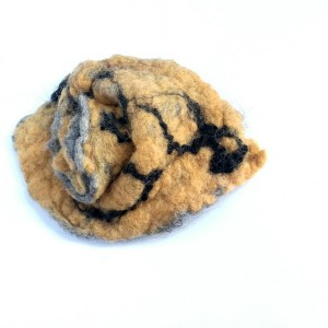 broszka filcowana handmade wełniana duża jesienna
