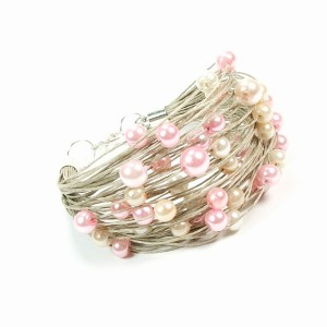 Różane perełki i len