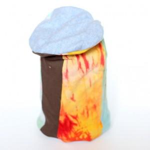 czapka ręcznie farbowana dzianinowa