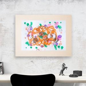 nowoczesny obraz, abstrakcja malowana ręcznie, fajna grafika do pokoju