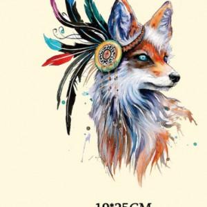 Naklejka naprasowanka na bluzkę lisica boho