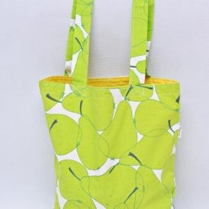 Torba na zakupy, torba shopperka, torba szoperka, eko siatka na zakupy gruszki żółta