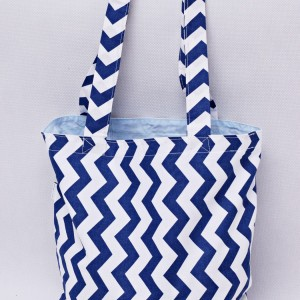 Torba na zakupy, torba shopperka, torba szoperka, eko siatka na zakupy zygzak niebieski